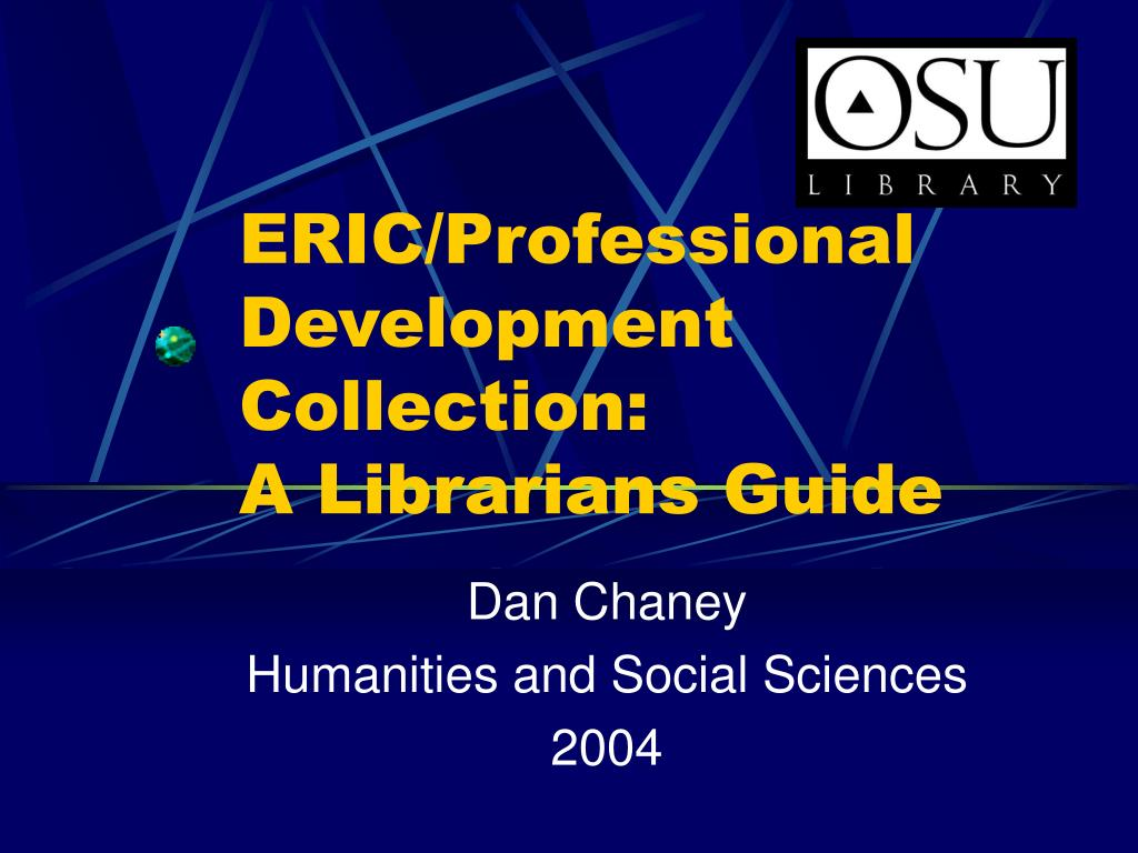eric professional development collection a librarians guide l.