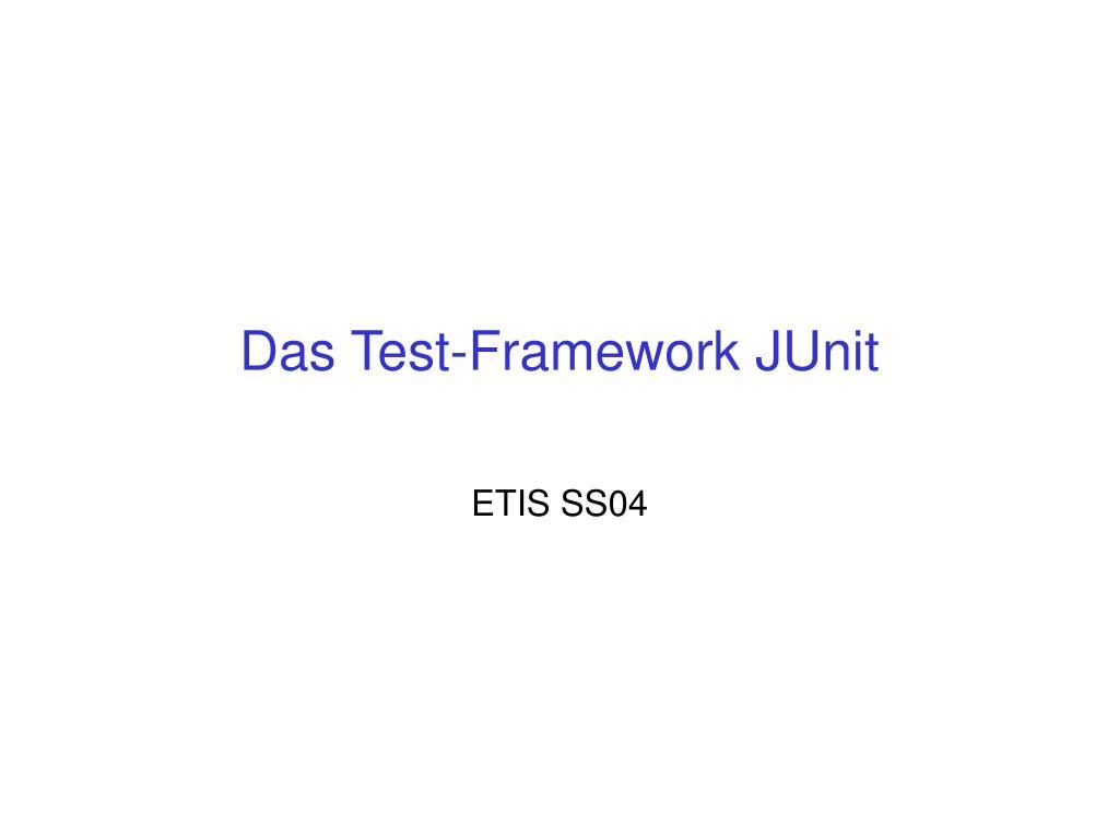 das test framework junit l.
