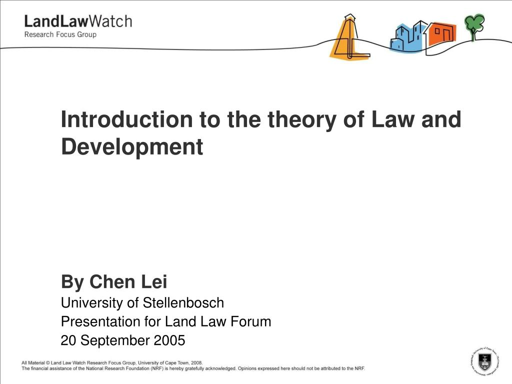 introduction to the theory of law and development l.