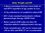 body weight and bp