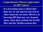 comprehensive dietary approaches for bp control