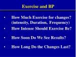exercise and bp