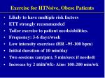 exercise for htnsive obese patients