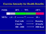 exercise intensity for health benefits