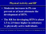 physical activity and bp