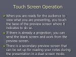 touch screen operation19