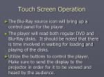 touch screen operation22
