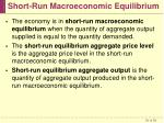 short run macroeconomic equilibrium