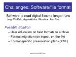 challenges software file format