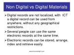 non digital vs digital materials