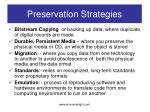 preservation strategies