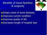 benefits of good nutrition longevity