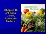 chapter 16 anti aging cancer preventative medicine