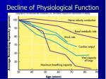 decline of physiological function