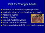 diet for younger adults