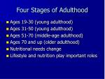 four stages of adulthood