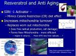 resveratrol and anti aging