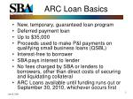 arc loan basics