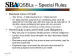 qsbls special rules