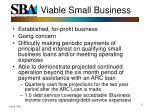 viable small business
