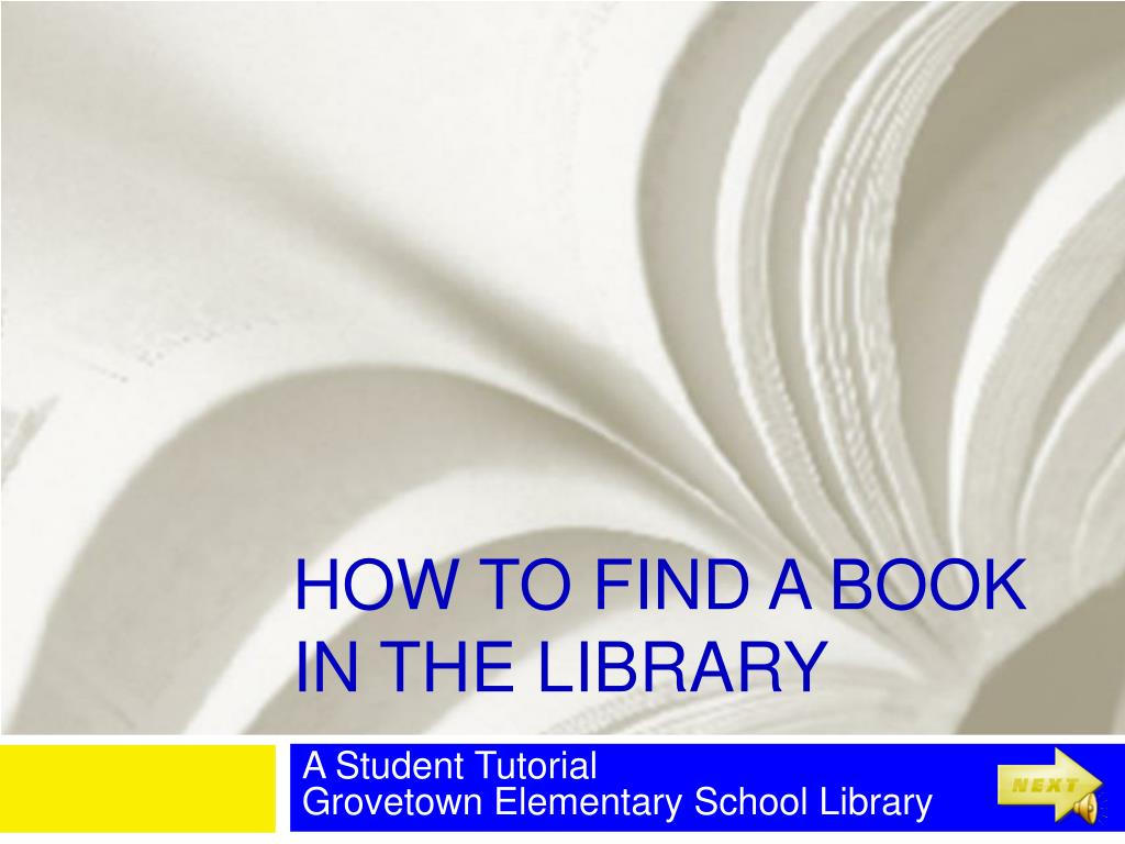 how to find a book in the library l.