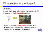 what section of the library26