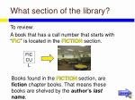 what section of the library27