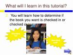 what will i learn in this tutorial4