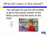 what will i learn in this tutorial7