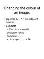 changing the colour of an image