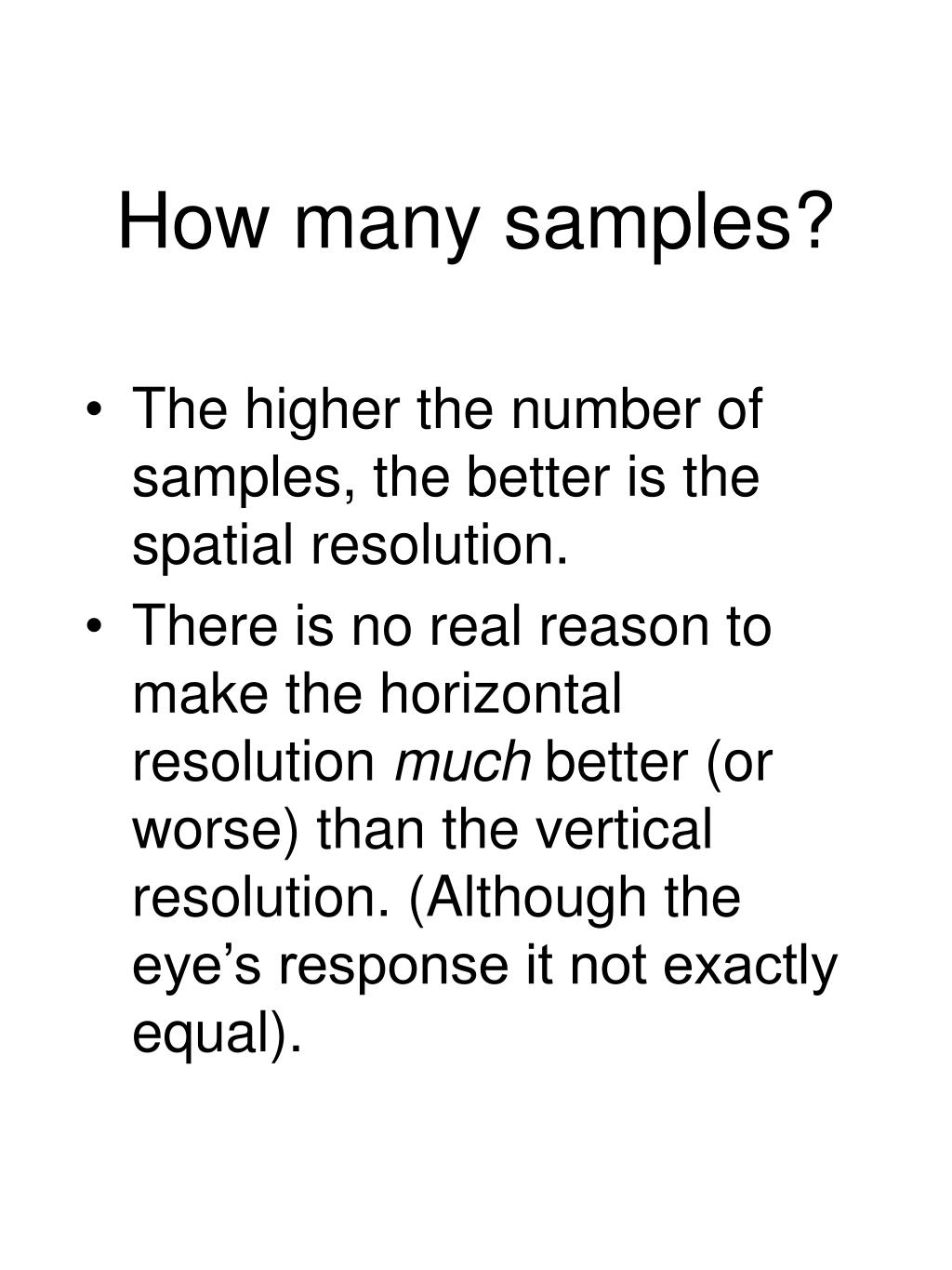 How many samples?