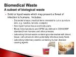 biomedical waste a subset of biological waste
