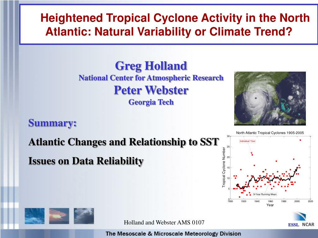 heightened tropical cyclone activity in the north atlantic natural variability or climate trend l.