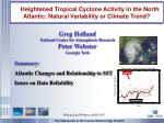 heightened tropical cyclone activity in the north atlantic natural variability or climate trend
