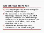 reason was economic