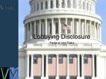 lobbying disclosure federal and state