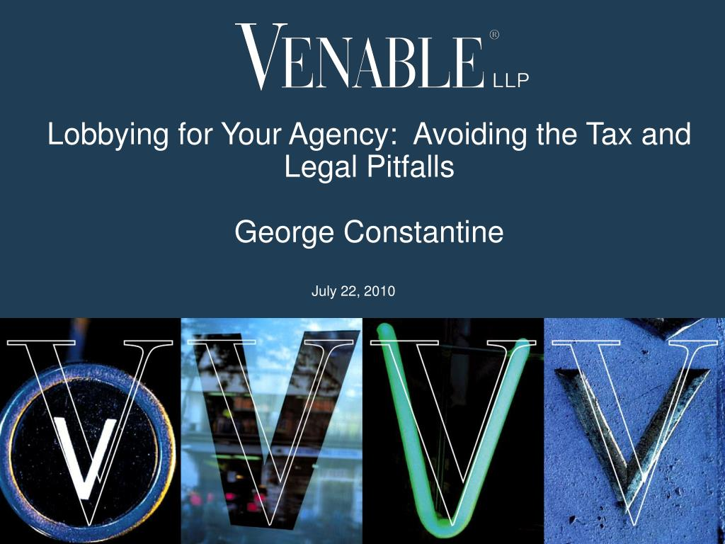 lobbying for your agency avoiding the tax and legal pitfalls george constantine l.