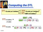computing the dtl