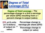 degree of total leverage dtl