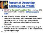 impact of operating leverage on profits7