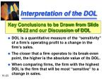 interpretation of the dol23