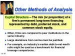 other methods of analysis