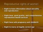 reproductive rights of women