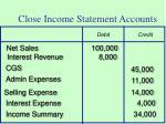 close income statement accounts