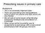 prescribing issues in primary care2