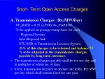 short term open access charges
