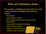 flow of evidentiary items13