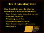 flow of evidentiary items14