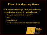 flow of evidentiary items15