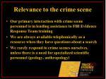 relevance to the crime scene27